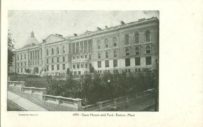 State House and Park, Boston, Mass early 1900s unused Pos...
