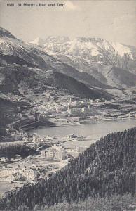 Switzerland St Moritz Bad und Dorf
