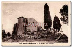 Bormes les Mimosas Old Postcard St. Francis Chapel