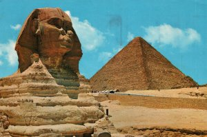 The Great Sphinx and Kheops Pyramid,Giza,Egypt BIN