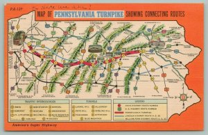 Pennsylvania Turnpike Map~Interchanges & Tunnels Legend~We Are Here~1941
