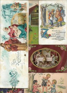 Theme Art Nouveau Happy Easter Christmas and more Postcard Lot of 40 - 01.11