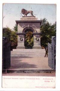 Lion, Sebastopol Monument,  Halifax, Nova Scotia, Montreal Import on Front