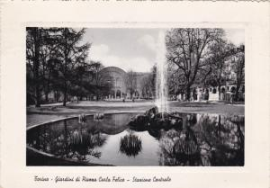 RP, The Gardens Of Carlo Felice Square And Central Railway Station, TORINO (P...