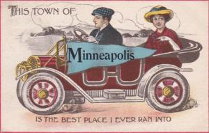 Minnesota Minneapolis This Town Is The Best Place I Ever Ran 1913 Pennant Series