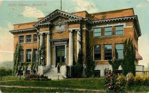 Postcard Aurora Illinois Public Library pm 1910
