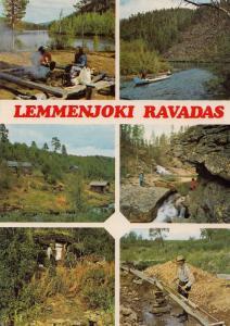 Lemmenjoki Ravadas Finland Lapland Postcard