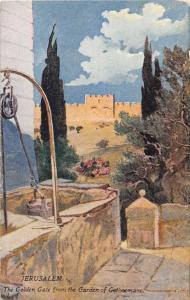 JERUSALEM ISRAEL THE GOLDEN GATE FROM THE GARDEN OF GETHSEMANE  POSTCARD