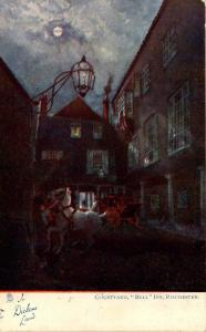 UK - England, Rochester. Bull Inn Courtyard (Tuck Series 1164, In Dickens Land)