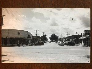 1940s RPPC Drug Store, Supermarket, Prudenville, Michigan D9