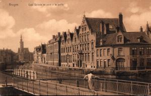 Belgium Bruges Quai Spinola et pont a la Paille