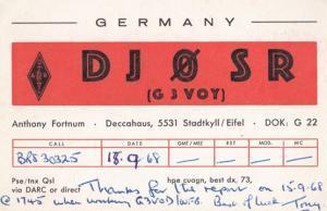 Stadkyll Eifel German Amateur Radio Station QSL Rare 1960s Postcard