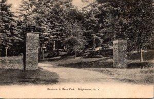 New York Binghamton Entrance To Ross Park