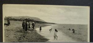 Mint Vintage Bathing Strand Greystones Co Wicklow Ireland Real Picture Postcard
