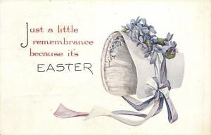 Easter~Lavender Poke Bonnet~Violets~Lace Inside~Remembrance~Gibson Art Lines~'14