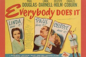 Everybody Does It Paul Douglas Movie Poster Launch Postcard