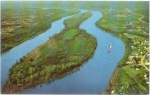 Historic Blennerhassett Island Ohio River Parkersburg, West Virginia, WV, Chrome
