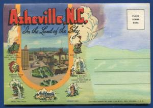 Asheville North Carolina nc Country Club Court House Haywood St postcard folder
