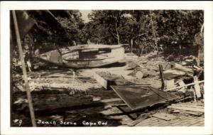 Cape Cod MA Hurricane Damage Real Photo Postcard