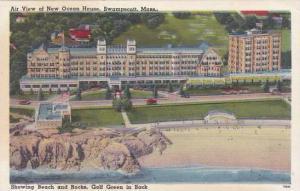 Massachusetts Swampscott Air View Of New Ocean House Showing Beach AndRocks G...