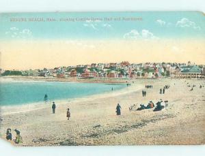 Divided-Back BEACH SCENE Revere Beach - Boston Massachusetts MA G6271