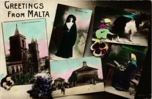 CPA MALTA-Greetings from Malta (320198)