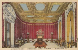 WASHINGTON DC, 1930-40s; State Dining Room -  International Eastern Star Temple