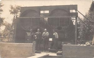 F9/ Occupational Real Photo RPPC Postcard c1910 Pipe Crew Workers 2