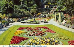 Vintage 1960 Postcard, Scarborough, The Italian Gardens, South Cliff 00S