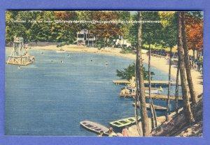 Webster, Mass/MA Postcard, Lake Chargoggagoggmanchauggagoggchaubunagungamaugg