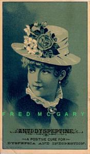 1890 Trade Card: Anti-Dyspeptine (Indigestion Cure)