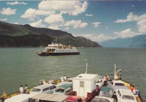 Ferry M.V. ANSCOMB, Kootenay Lake , B.C. , Canada ,50-70s