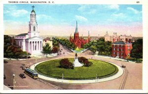 Washington D C  Trolley On Thomas Circle