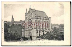 Postcard Angouleme Old Chapel of Our Lady of Bezines