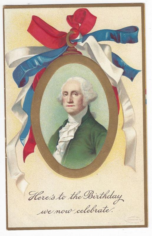 George Washington Birthday Unsigned Clapsaddle Patriotic IAP 1908 Postcard