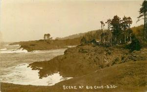 Big Cove Scene C-1910 Newport Oregon Postcard Sasman 3375
