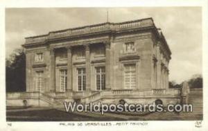 Palais De Versailles, France, Carte, Postcard Petit Trianon  Petit Trianon