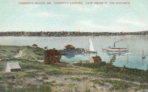 CUSHING'S ISLAND, Maine, 1900-10s; Cushing's Landing, Steamer