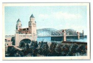 Cologne Koln Hohenzollern Bridge, Famous Bridges, Echte Wagner German Trade Card
