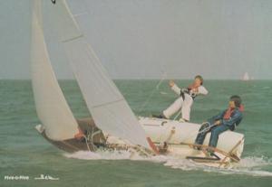 Five O Five Five-O-Five Sailing 1970s Trapeze Reaching Dinghy Postcard