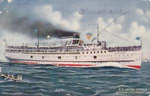Steamship S.S. United States Michigan City , Michigan , PU-1911