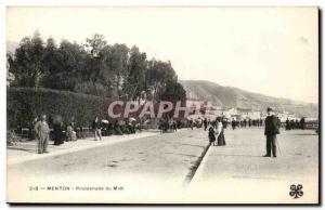 Menton - Promenade du Midi - Old Postcard