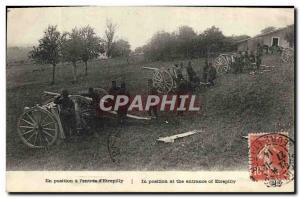 Old Postcard Army in the position of 39entree & # & # 39Etrepilly