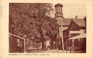 Camden Delaware Commerce Street Looking West Vintage Postcard AA6427