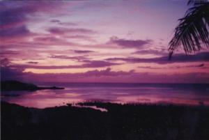 Micronesia Pohnpei Beautiful Sunset Scene