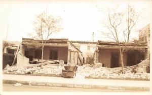 Long Beach CA~Rocking Chair Survives Earthquake, Bldg, Not So Much~RPPC 1933