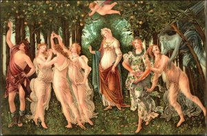 Vintage. Primavera. Spring. Botticelli. Fantasy. Mythology. Renaissance Art.