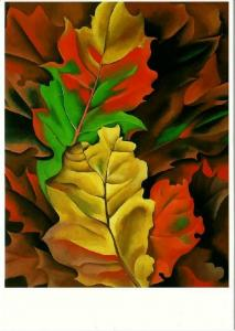 Autumn Leaves Lake George New York by Georgia O'Keeffe Art Postcard