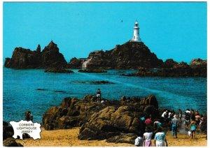 Postcard Channel Islands Jersey Corbiere Lighthouse