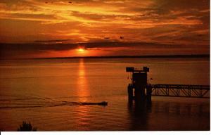 US    PC1643  SUNSET OF LAKE MCCONAUGHY, MT